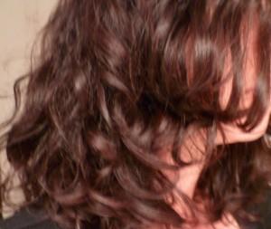 cheveux frisés et disciplinés