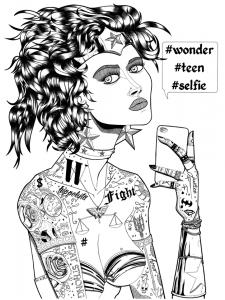 illustration jb mus wonder woman