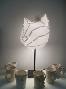 lampe origami mugs animaux