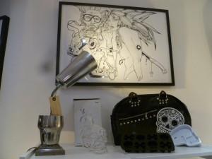skull sac skull glaçons bouteille crane