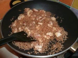 cuisson riz et blanc de poulet