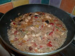 poelée maison riz poulet légumes