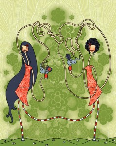 illustration siamoises melle cancan