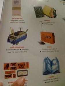objects shopping magazine flow