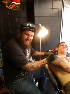 ben bg tattoo black heart