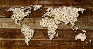 carte du monde en fil nomad lifestore