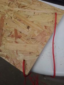planche étagère suspendues diy corde