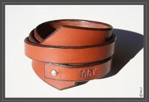 bracelet manchette cuir MbyT