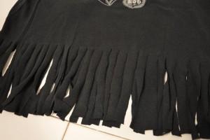 débardeur à franges customiser un vieux tshirt
