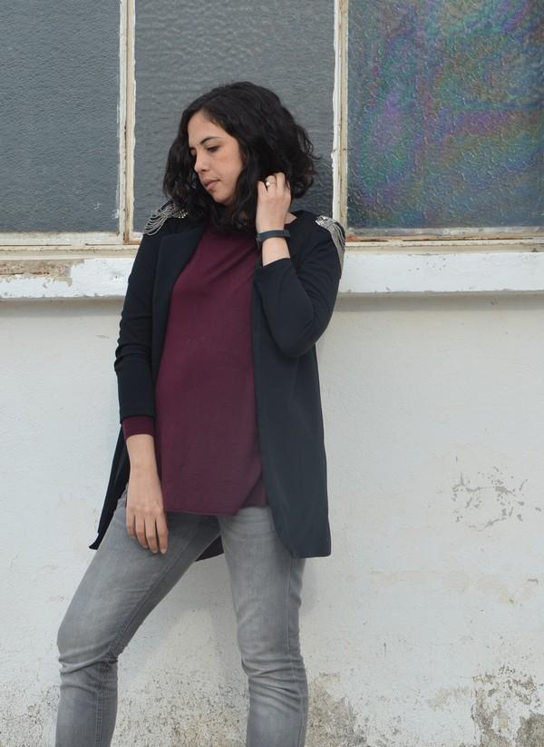 look-ootd-outfit-mode-bordeaux-gris-noir