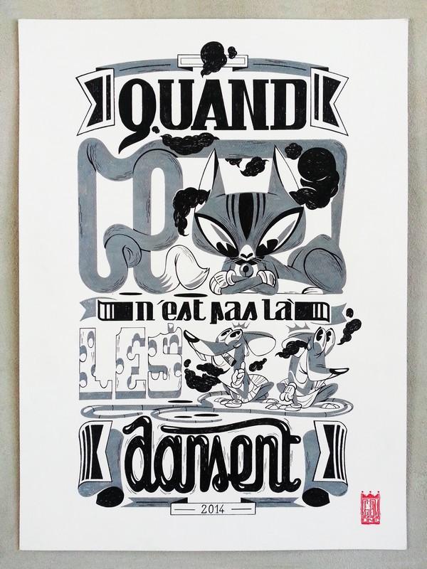 illustration-crom-typographie-noiretblanc-expression-animaux