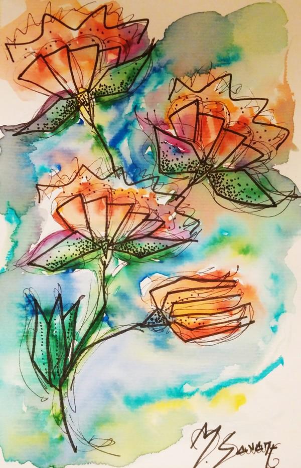 fleur-tableau-aquarelle-magalisavary-artiste