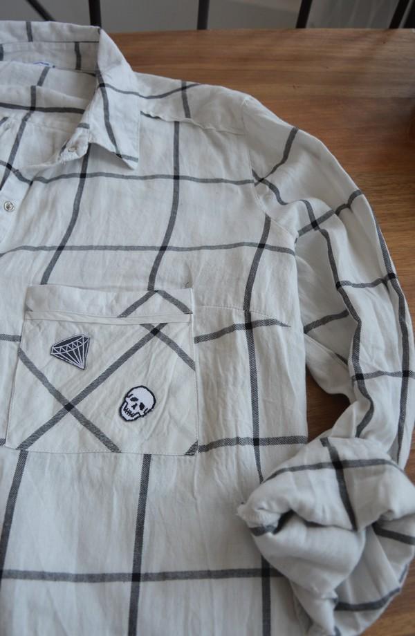 chemise-carreaux-customiser-patch-blogueuse-mode