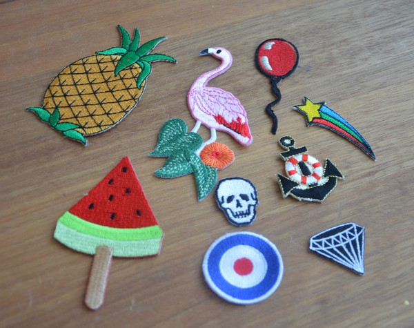 customisation-patch-ananas-flamant-pasteque-crane-diamant-diy