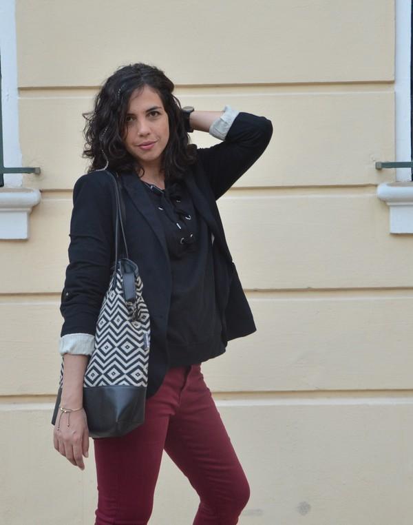 look-outfit-tenue-mode-rentree-automne-bordeau-swaet-lacets
