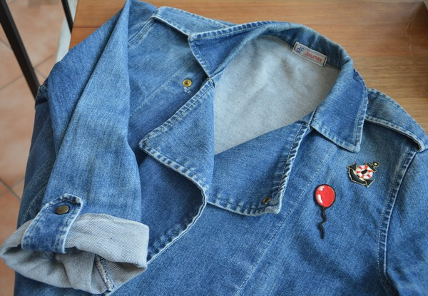 veste-blouson-jean-customiser-patch-vintage-blogueuse